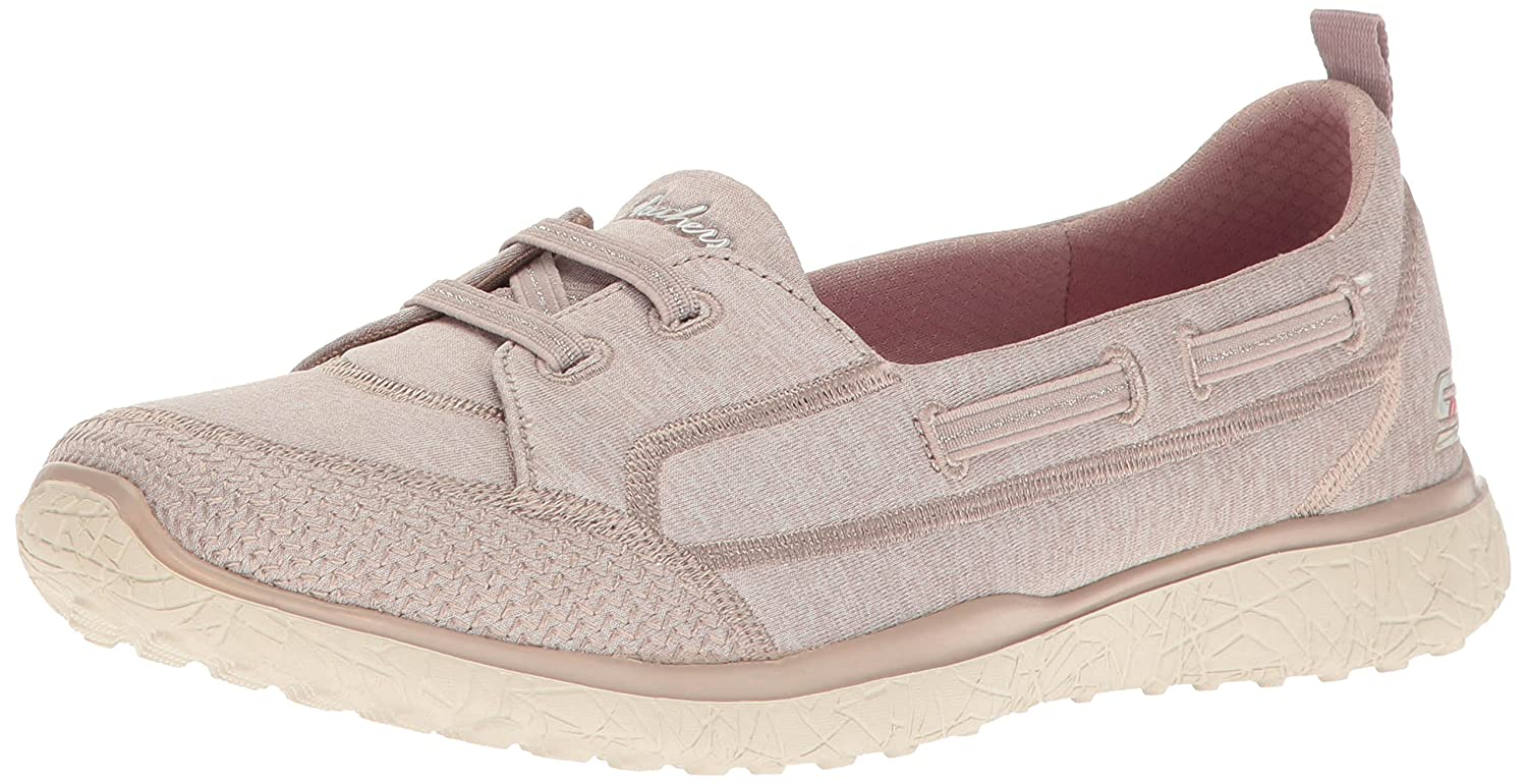 Skechers Damen Microburst-Topnotch Slip on Sneaker  9 B(M) US|Taupe
