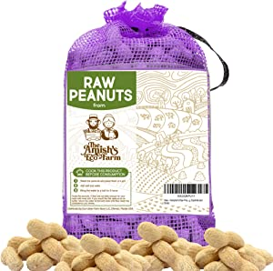 Hampton's Raw Peanuts in Shell Fancy 5 lbs. (Great for Boiling, Squirrels and Birds)