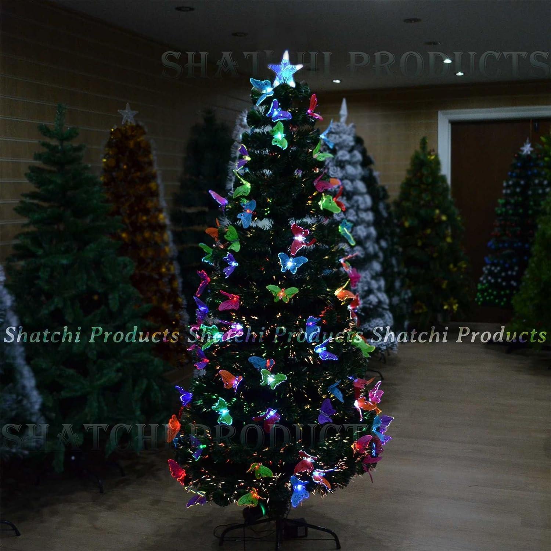 3Ft 90Cm Christmas Tree Fiber Optic Pre Lit Xmas Tree With