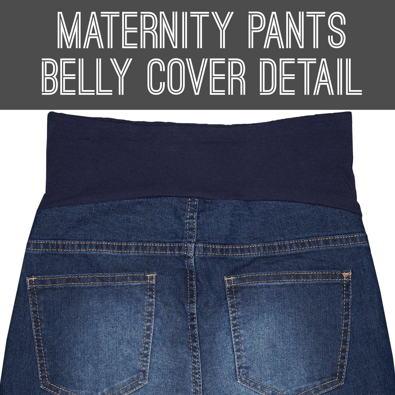 Bermuda Hybrid /& Company Super Comfy Stretch Womens Skinny Maternity Jeans Capri