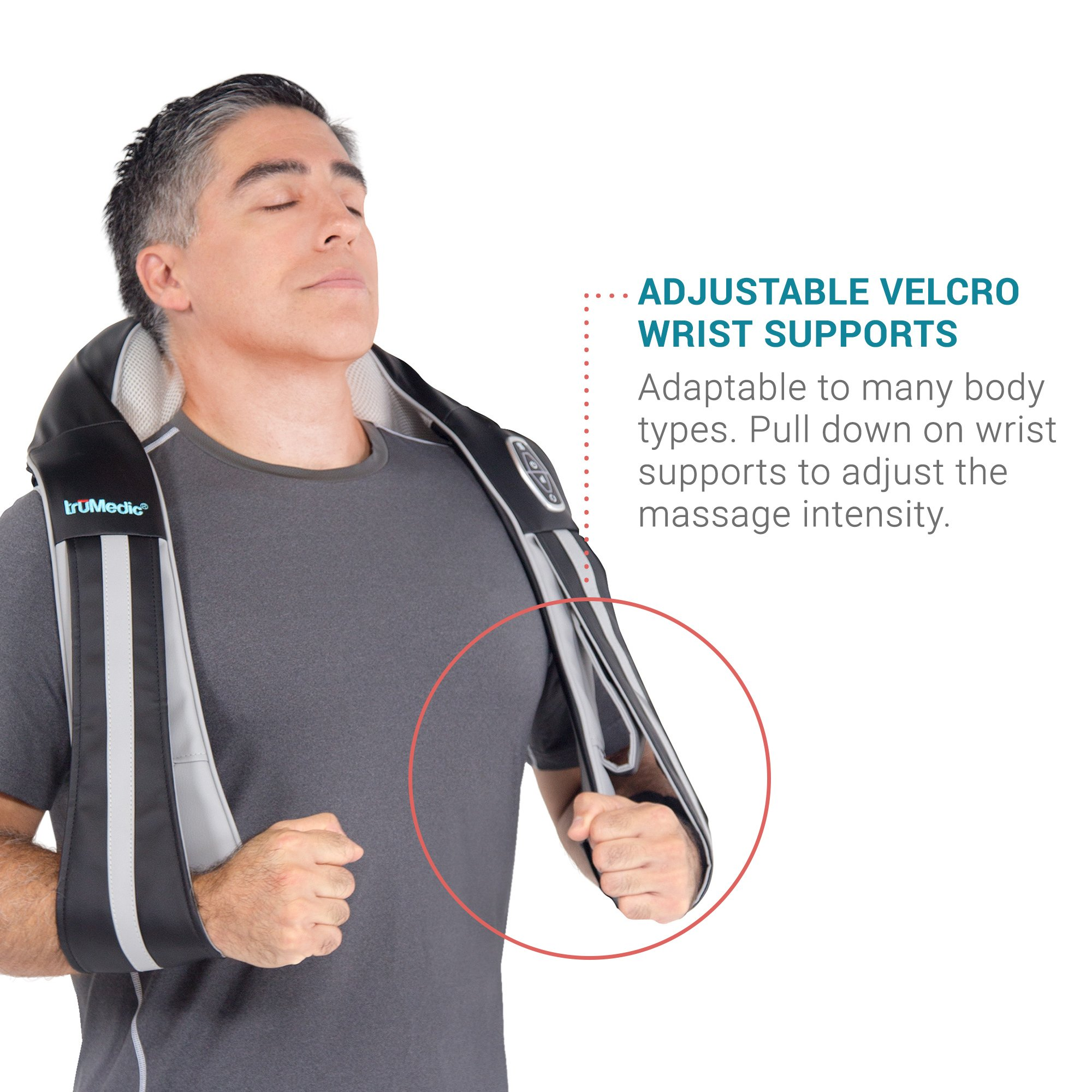 InstaShiatsu+ Neck, Shoulder & Full Body Massager with Heat, Model # IS-3000PRO, 3 Massage Speeds, Cordless & Rechargeable, Use at Home & Office, by TruMedic by truMedic (Image #5)