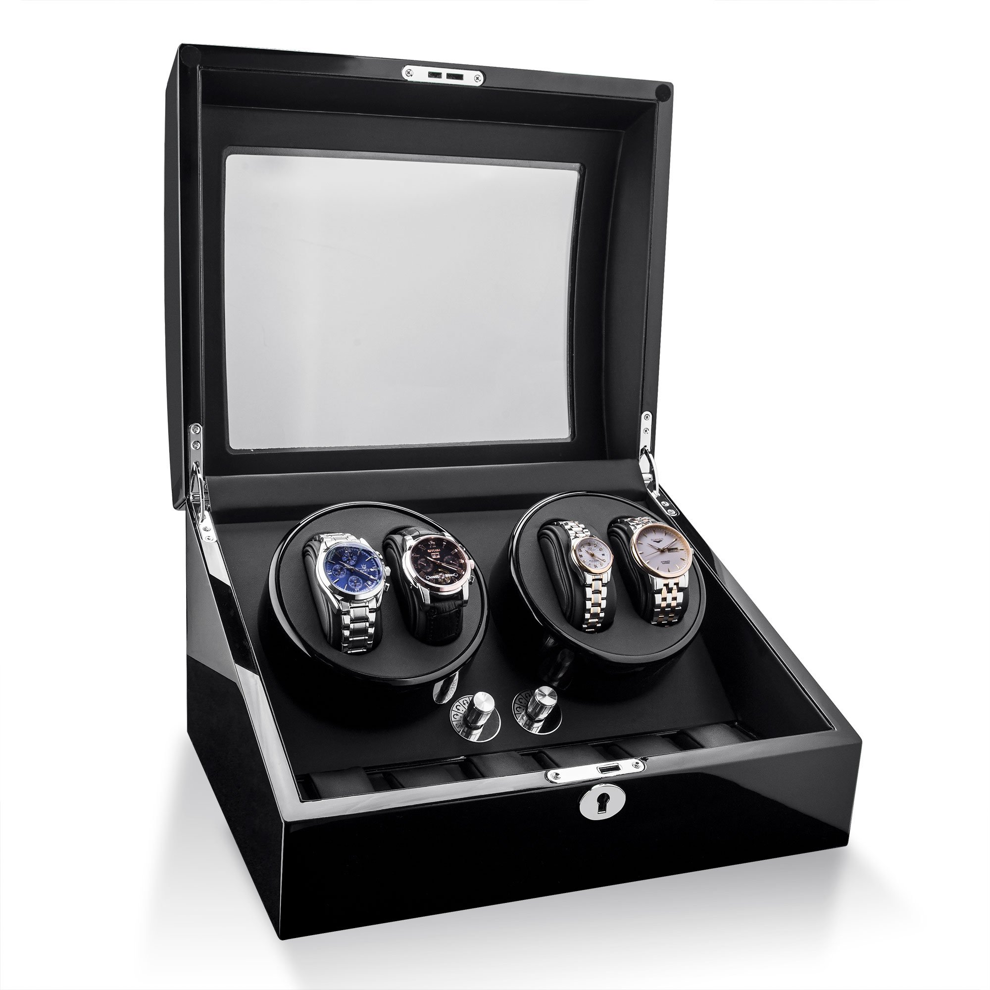 Watch Winder For Rolex Automatic Watches,Wood Shell + Piano Paint +Japanese Motor by TRIPLE TREE (Image #3)