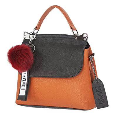 e3171d82a867 Amazon.com  Muncaso Women Genuine Leather Handbag Ladies Fashion Bag  Satchel Crossbody Bag (Black Brown)  Shoes