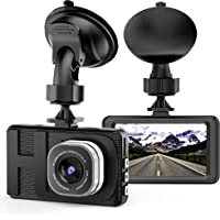 Vkaka Dash Camera for Cars with Full HD 1080P 170 Degree Super Wide Angle Cameras