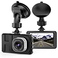 "Dash Cam, Camera for Cars with Full HD 1080P 170 Degree Super Wide Angle Cameras, WDR, G-Sensor, 3.0"" TFT Display, Loop Recording"