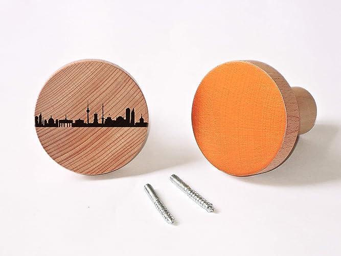 Berlin City Wand Dots 2 Er Set Wandhaken In Kupfer Und Holz