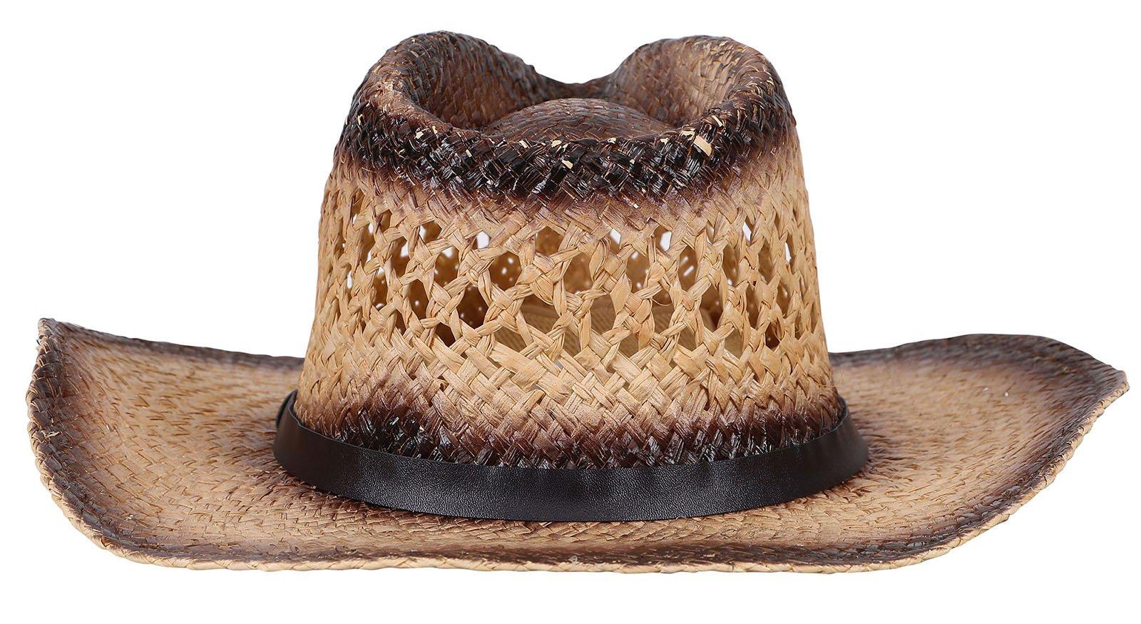 Livingston Men & Women's Woven Straw Cowboy Hat w/Hat Band