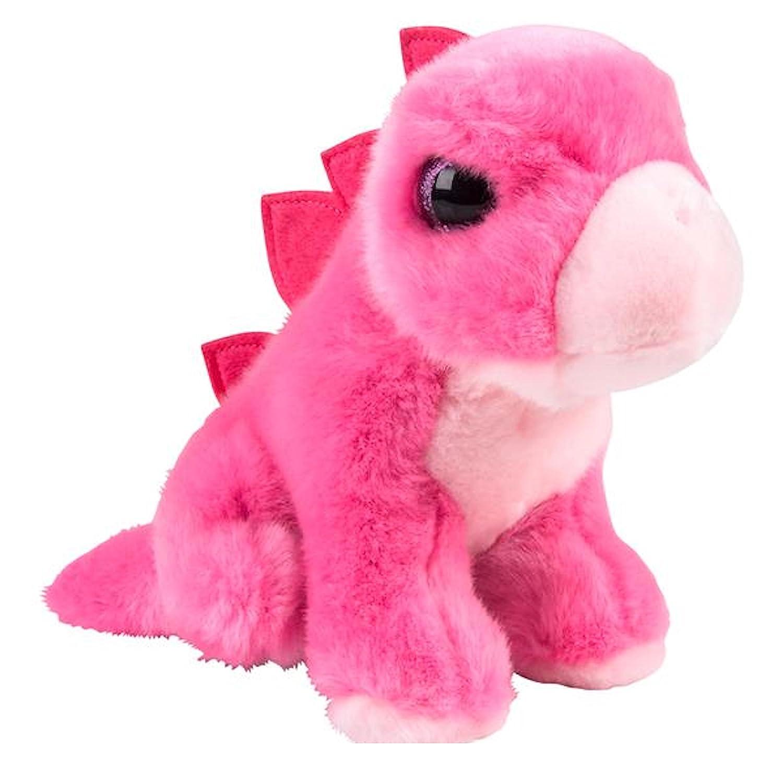 Heirloom Brights Collection Pink Stegosaurus Dinosaur Plush Stuffed Animal