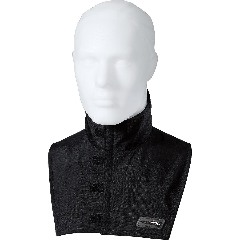Thermoboy Halskrause Gesichtsschoner Halswä rmer 1.0, schü tzt den Hals vor Zugluft, winddicht, atmungsaktiv durch Soft-Taslan, Fleece mit STORMPROOF-Membran Schwarz, S - XL