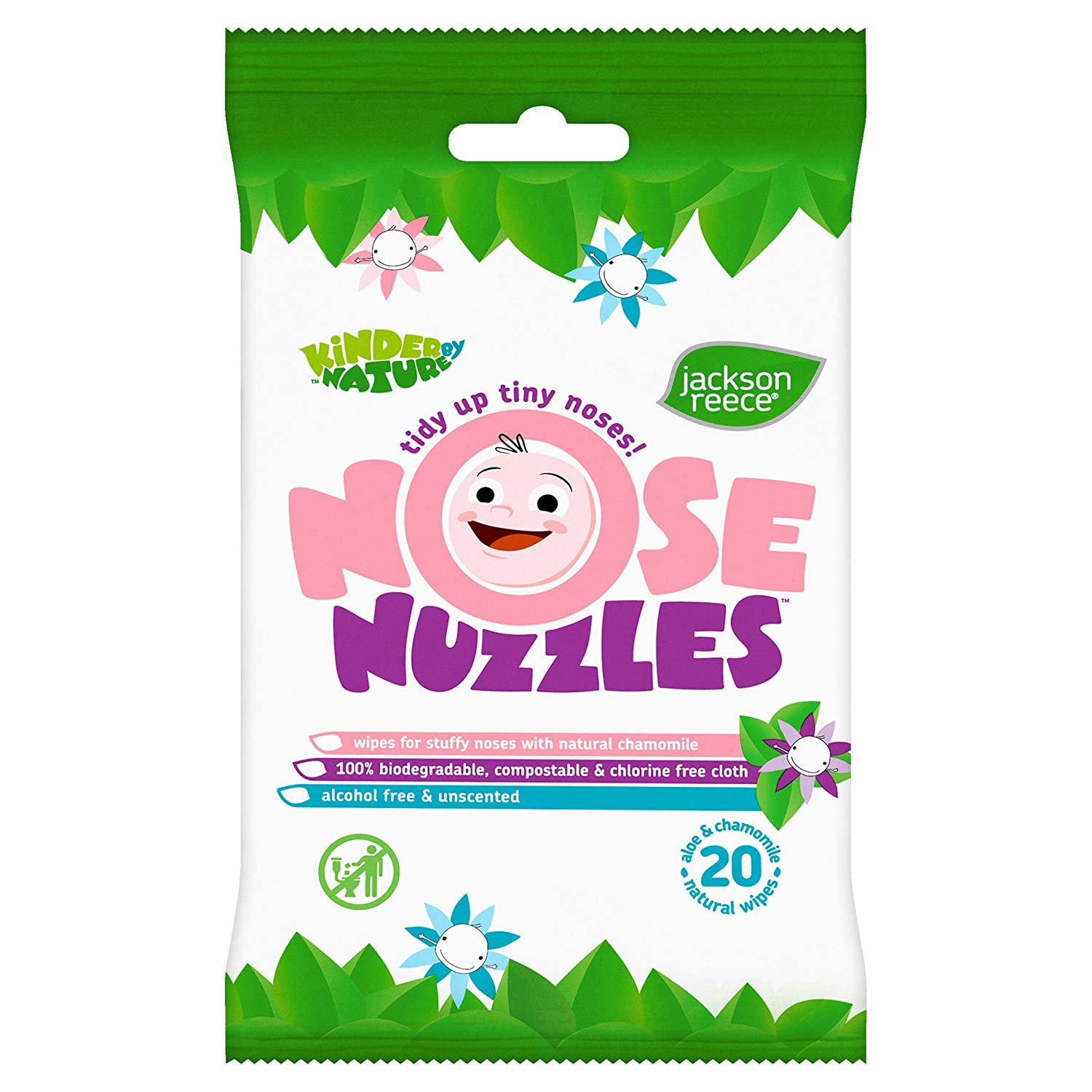 Jackson Reece Natural Nose Nuzzles Wipes - 100% Biodegradable