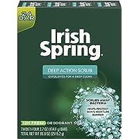 Irish Spring Men's Deodorant Soap Bar, Deep Action - 3.7 ounces (24 Count)