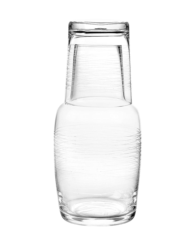 Amazon  Qualia Glass Graffiti Bedside Night Set, 28ounce, Clear:  Highball Glasses