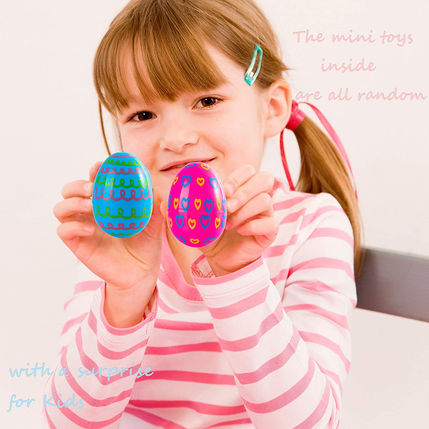 Plastic Easter Eggs with Different Mini Toys 36 Pcs Filled Surprise Toys for Kids Easter Eggs Hunt Party Favors Basket Stuffers Fillers