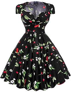 Robe Sexy Vestidos Big Size Floral Print Retro 50s 60s Vintage Dress Hepburn Pinup