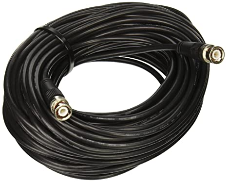 C2G/Cables to Go 03190 RG58 BNC Thinnet Coax Cable, Black (75 Feet
