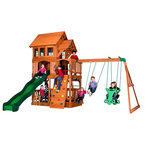 Amazon Com Backyard Discovery Liberty Ii All Cedar Wood Playset