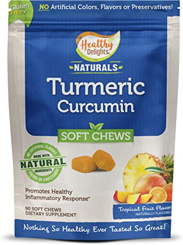 Healthy Delights Naturals Turmeric Curcumin Soft Chews Made