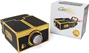 Smartphone Projector 2.0, Portable Phone Projector, Gold - Luckies of London