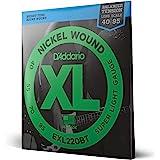 D'Addario EXL220BT Nickel Wound Bass Guitar Strings, Balanced Tension Super Light, 40-95