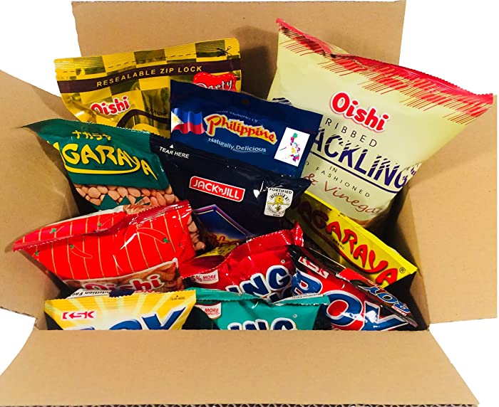 WORLD FOOD MISSION BALIKBAYAN SNACKS BOX- VARIETY ASSORTMENT OF CLASSIC FILIPINO SNACKS (9 COUNTS TOTAL)