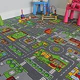 """Tappeto gioco per bambini con mappa strade e città - 200cm x 200cm (6ft 7"""" x 6ft 7"""")"""