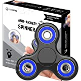 The Anti-Anxiety 360 Spinner Helps Focusing Fidget Toy [3D Figit] Tri-Spinner EDC Focus Toy for Kids & Adults - Best Stress Reducer Relieves ADHD Anxiety Boredom Metal Bearing (Electroplating Black)