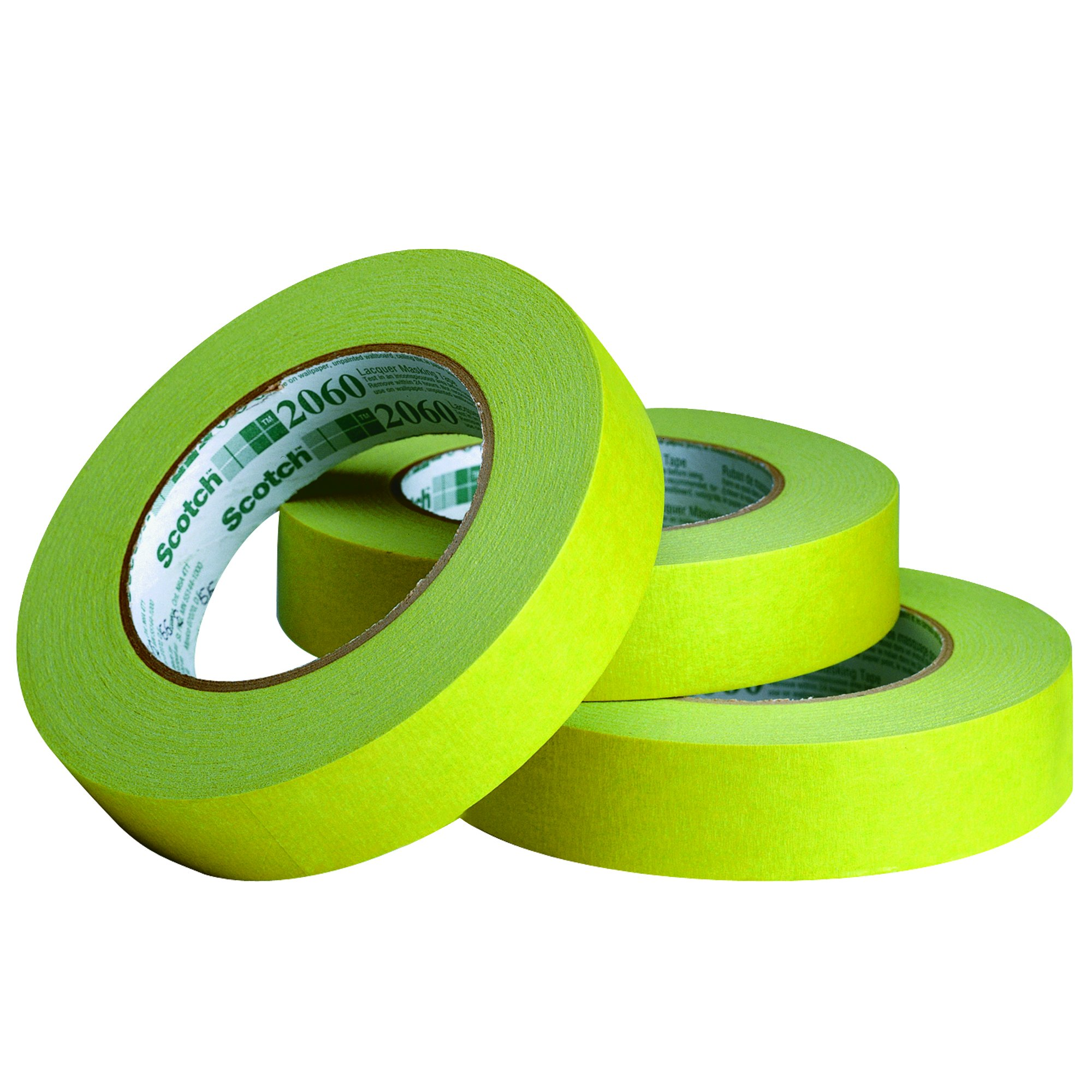 BOX BT934206012PK 3M 2060 Masking Tape, 3/4'' x 60 yd, Green (Pack of 12)