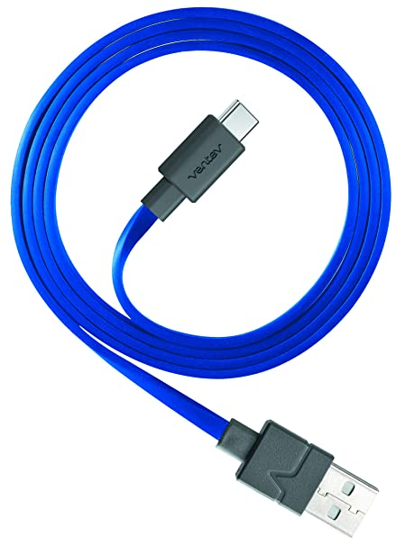 Ventev Chargesync USB Cable | Type AC, Transfer from Device to Most PC or  MAC, Flat, Tangle-Free Cable, Supports Rapid Rate Charging up to 3A, Cable