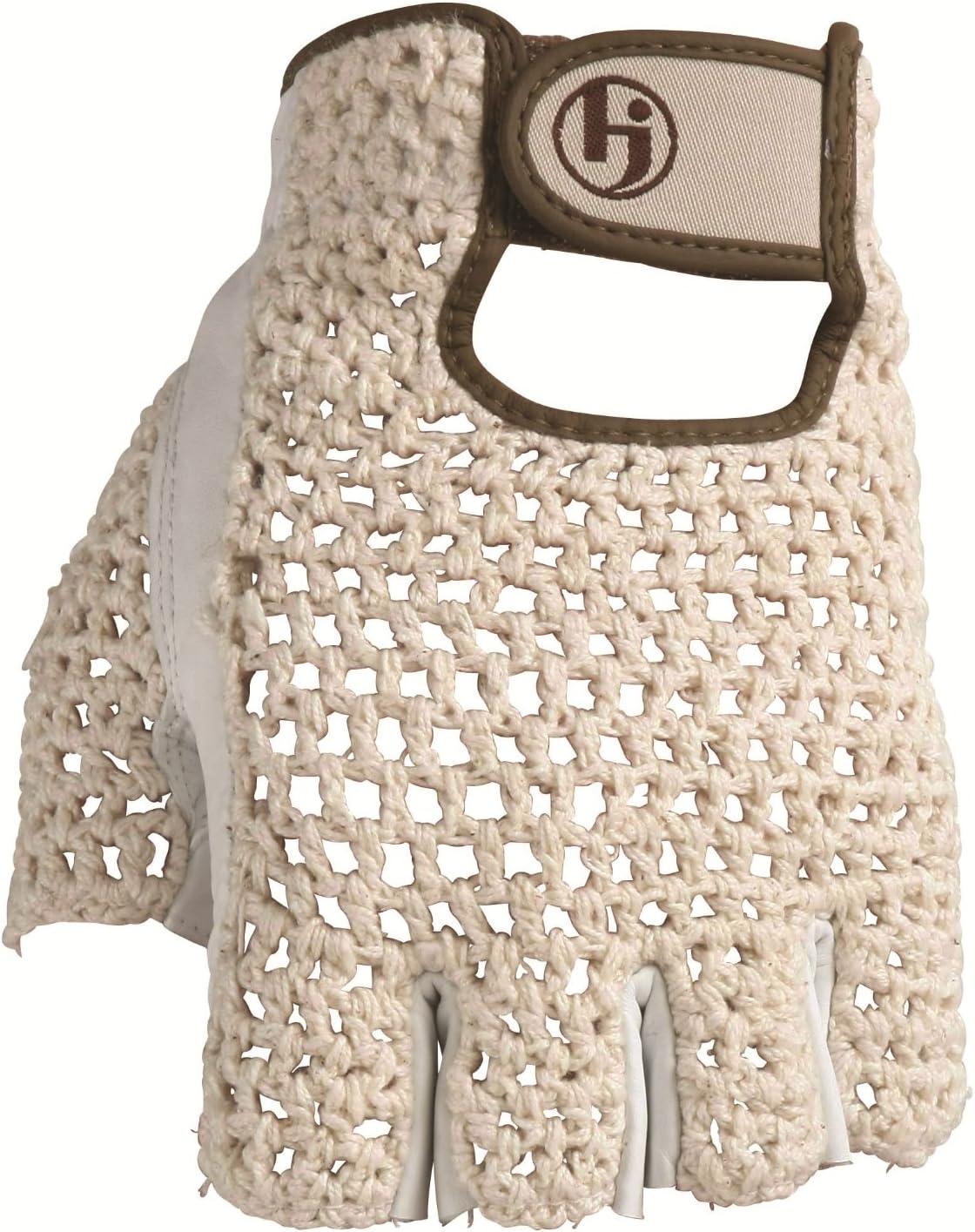 HJ Glove Men s Snow White Original Half Finger Golf Glove
