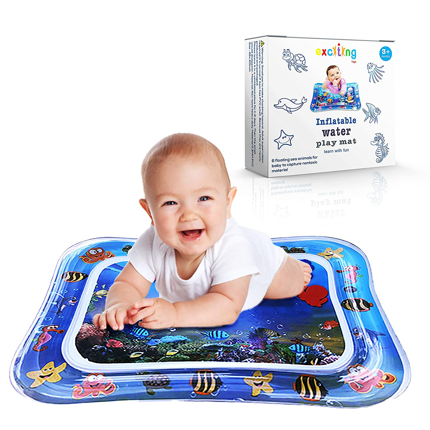 Tummy Time Baby Water Mat Inflatable Baby Play Activity Center for Infant Baby Toys 6 to 12 Months,Baby Gifts for Newborn Boys Girls