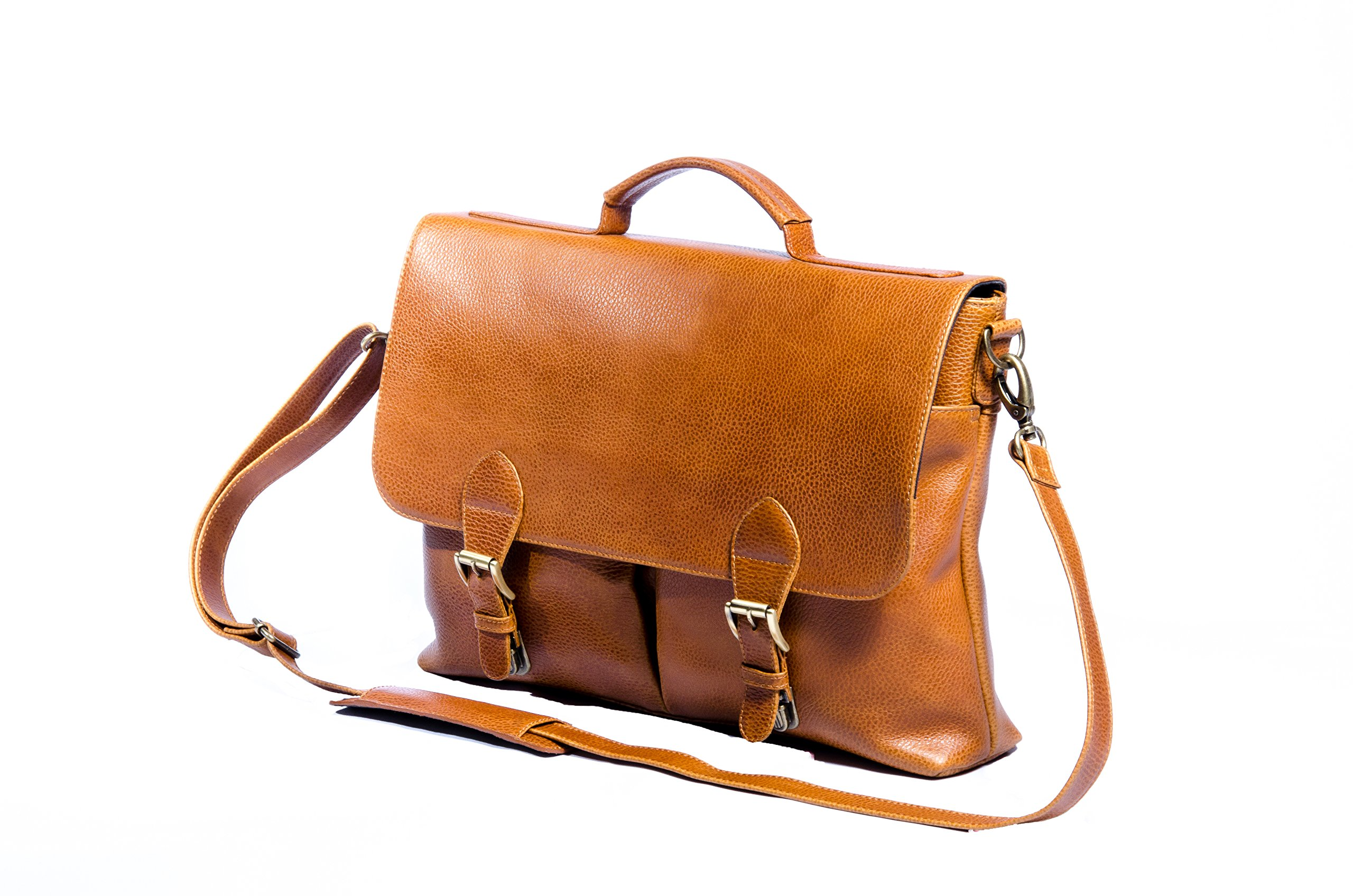 Leather Messenger Bag for men | Executive Laptop Briefcase for Business and Work Office | Durable & Stylish Satchel Bag by MA&B by MA&B
