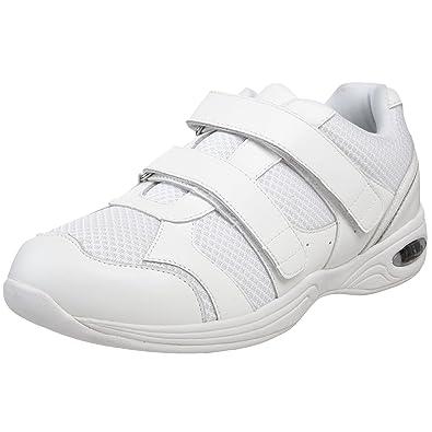 Drew Shoe Men's Apollo Athletic Shoe,White Leather/Mesh,7 4E US