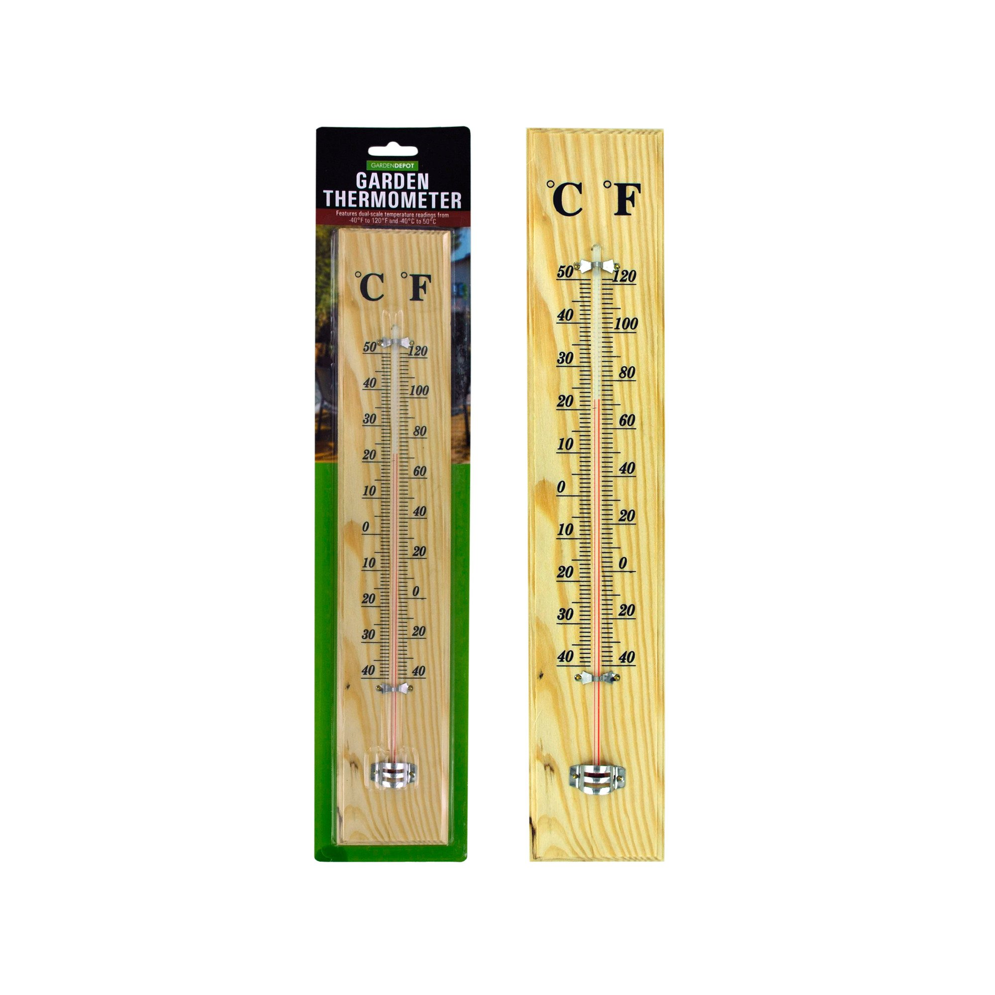 123-Wholesale - Set of 18 Wooden Garden Thermometer - Household Supplies Thermometers
