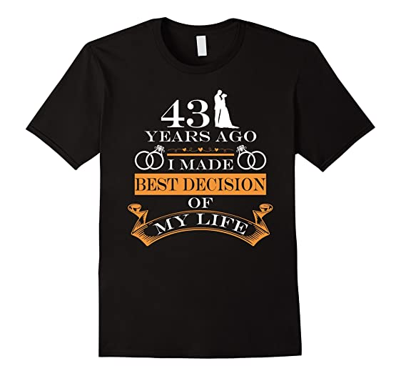 Amazon.com: 43rd Wedding Anniversary Gifts Her/Him. Couple T shirts ...
