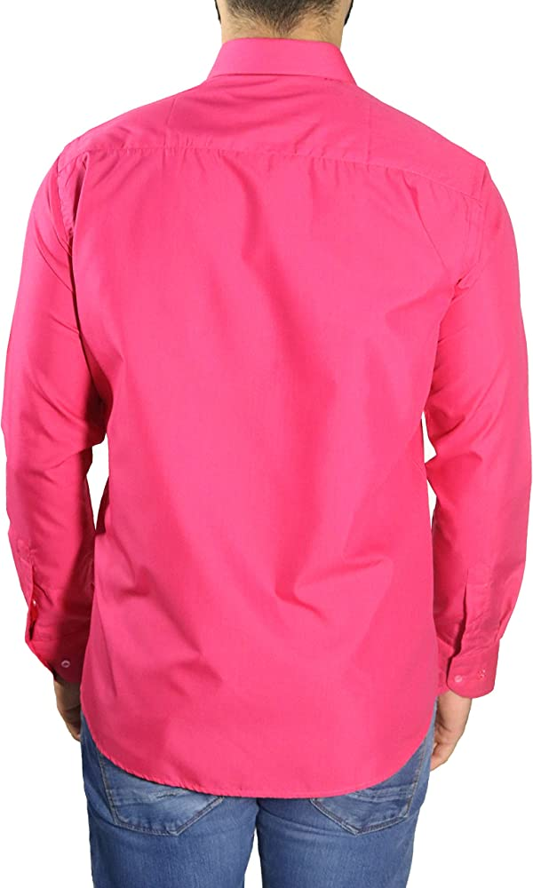 MUGA mmuga Hombre Camisas con Brazalete Deportivo, Color Fucsia, Tallas S – 5 x l Fucsia Small: Amazon.es: Ropa y accesorios