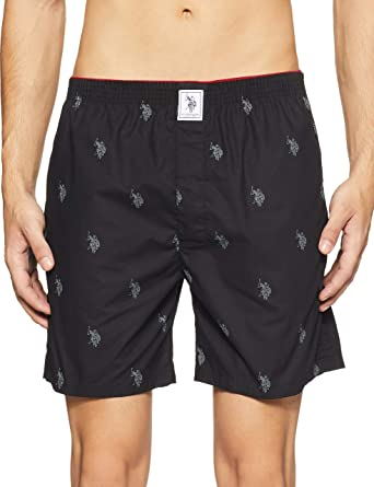 U.S. Polo Assn. Men's Cotton Boxers Men's Boxer Shorts at amazon