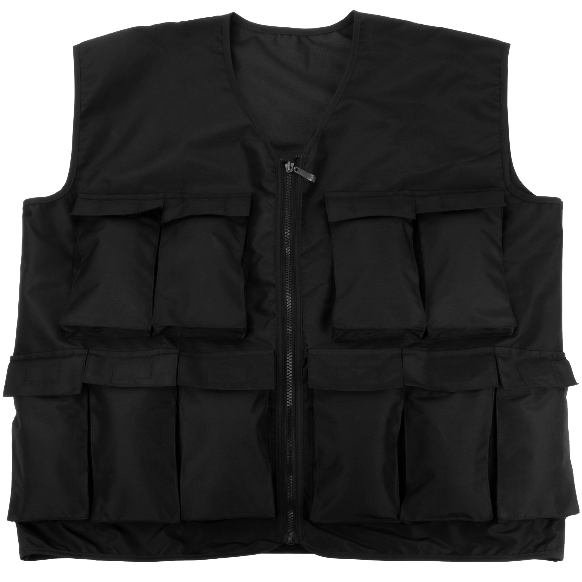 Crown Sporting Goods 7 kg (15 lbs) Endurance Weighted Vest - Adjustable Weight Jacket for Resistance Training with 15 Additional 1 lb. Weights by Crown Sporting Goods