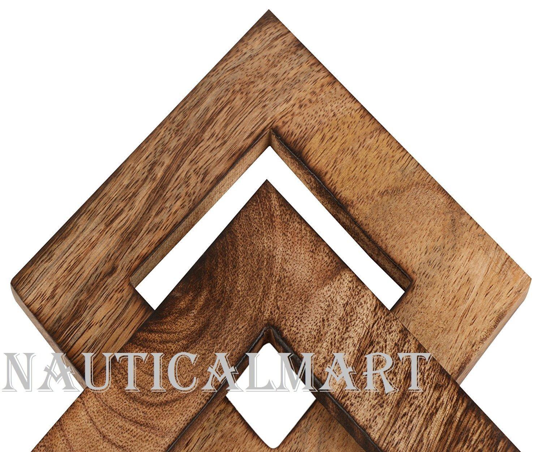 NAUTICALMART Decorative Wooden Curtain Tiebacks Set of 2 Window Treatment Holdbacks Drape Binds Hand Carved with Rustic Finish Home Decor by NAUTICALMART (Image #2)