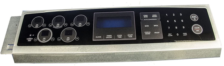 LG Electronics 383EW1N006F Electric Range Touchpad and Control Panel