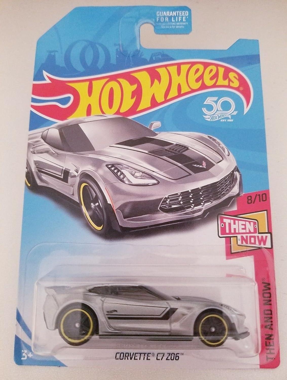 2018 Hot Wheels Kmart Exclusive Then And Now Corvette C7 Z06 Silver