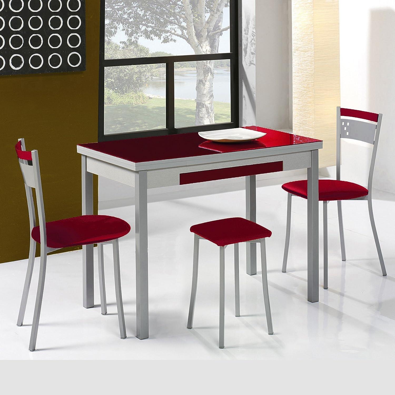 Dekogar Conjunto Mesa Extensible y sillas de Cocina Modelo A ...