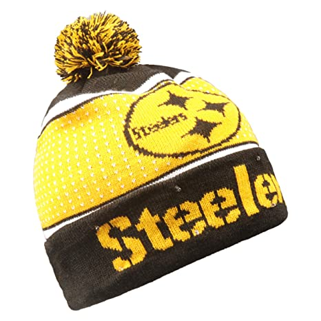 367501840b8 Image Unavailable. Image not available for. Color  Forever Collectibles NFL  Pittsburgh Steelers Big Logo Knit Light Up Beanie Hat
