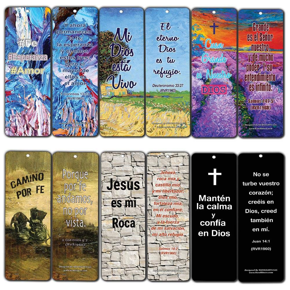 Spanish Favorite Bible Verses Bookmarks (60 Pack) - Bulk Collection & Gift with Inspirational, Motivational, Encouragement Messages by NewEights (Image #1)