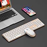 Wireless Keyboard Mouse, Jelly Comb 2.4GHz Full