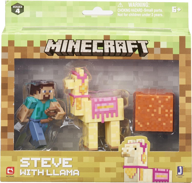 Minecraft 16602 Steve con Llama Figura: Amazon.es: Juguetes y juegos
