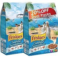Purina Friskies Seafood Sensations Dry Cat Food Bag 1.43kg (2 Bags)