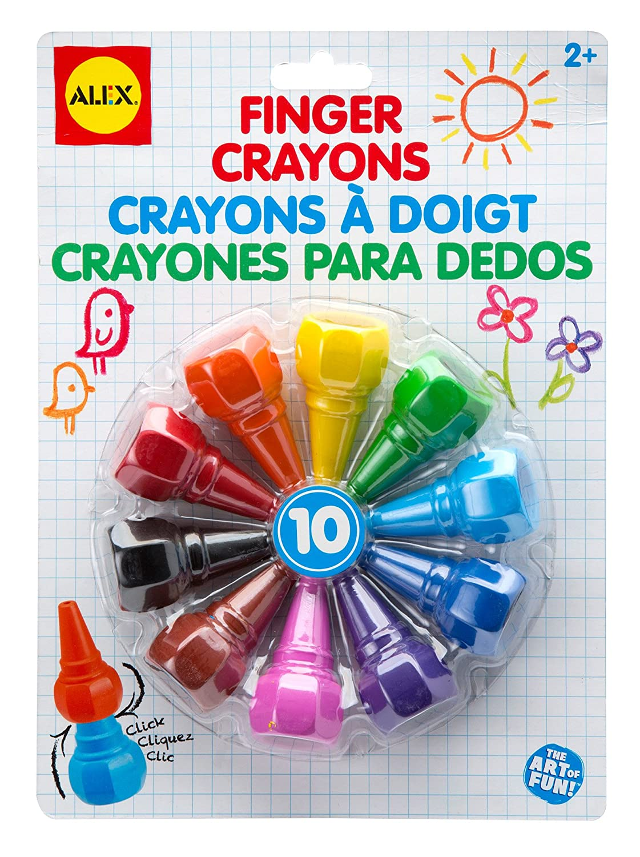 Alex Toys Artist Studio 10 Finger Crayons by Alex Toys