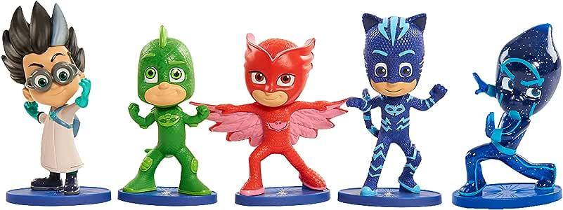 PJ Masks - Pack de 5 figuras (Bandai 24580), surtido: modelos aleatorios: Amazon.es: Juguetes y juegos