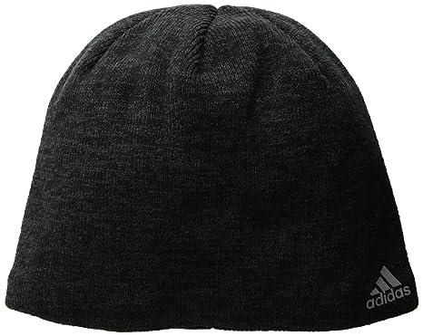 982057af adidas Men's Paramount Beanie, Black/Night Grey/Tech Steel, One Size