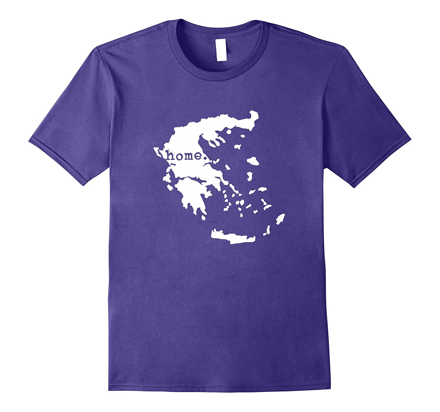 Greece Home Flag Map T-shirt Greek Pride Gifts-Art